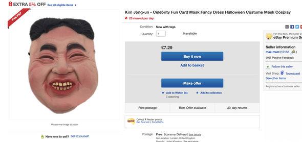 بازار داغ ماسک «کیم جونگ اون» برای جشن وحشت+تصاویر