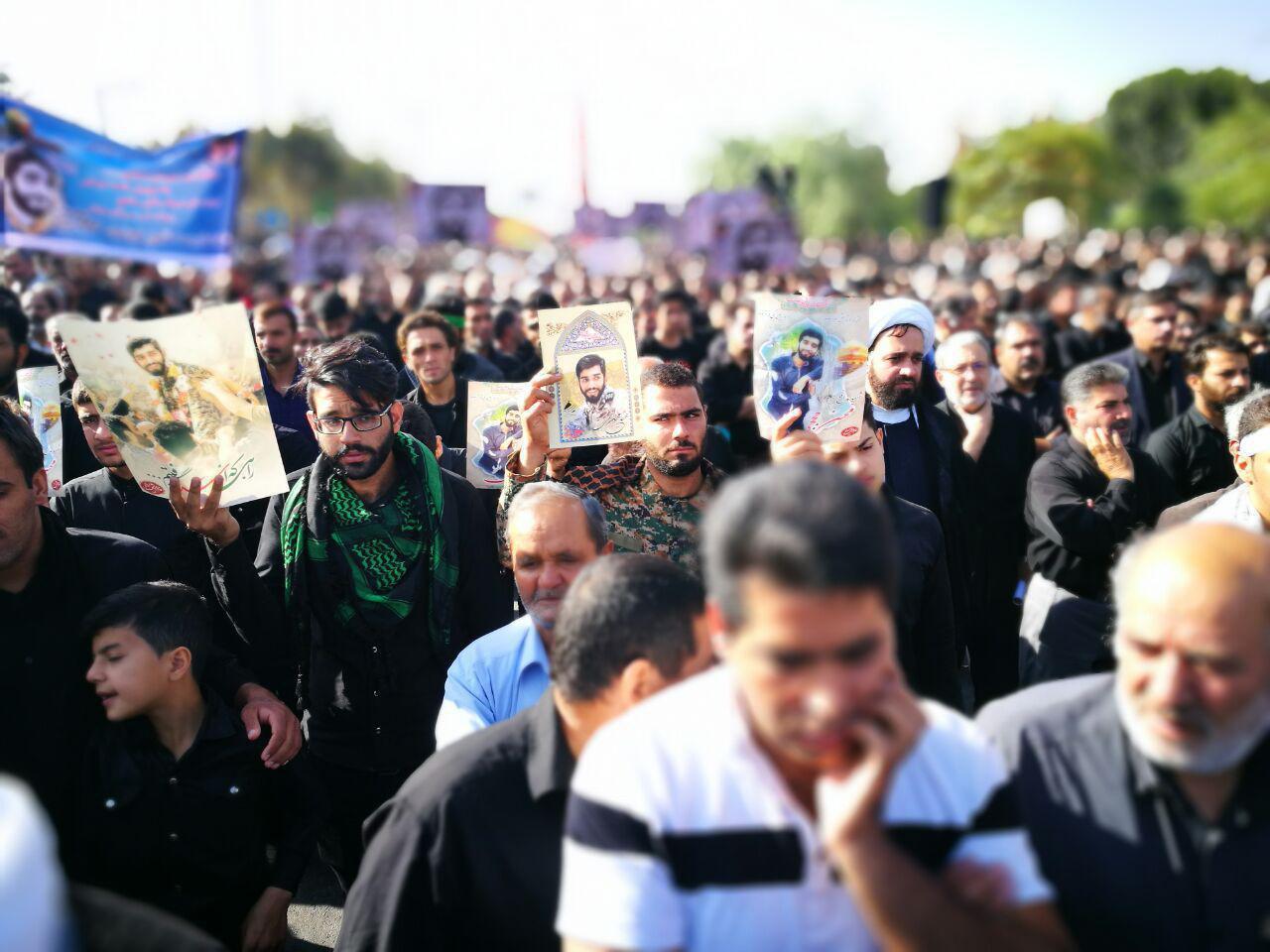 آخرین وداع شهید حججی با زادگاهش