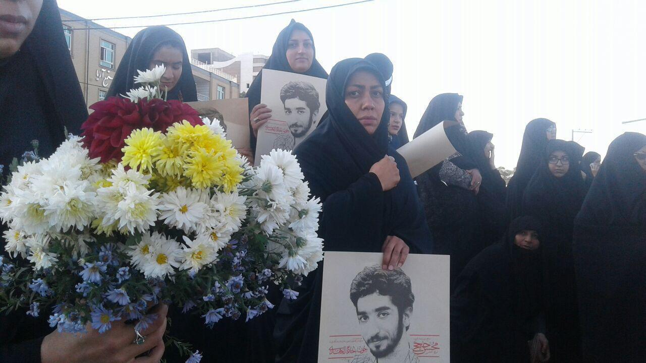 آخرین وداع شهید حججی با زادگاهش + تصاویر