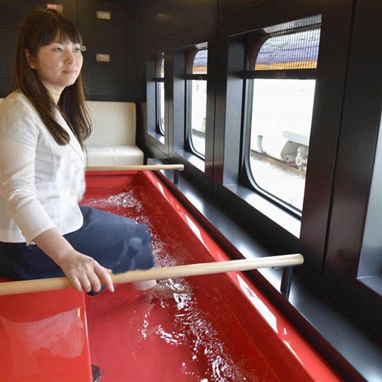 باشگاه خبرنگاران -تدبیر راهآهن ژاپن برای خستگی مسافران +عکس