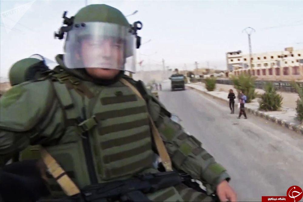 پاکسازی میادین مین در دیرالزور به وسیله ماموران خنثیکننده روس +تصاویر