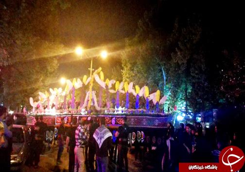تصاویر عزاداری شب عاشورا در خرم آباد