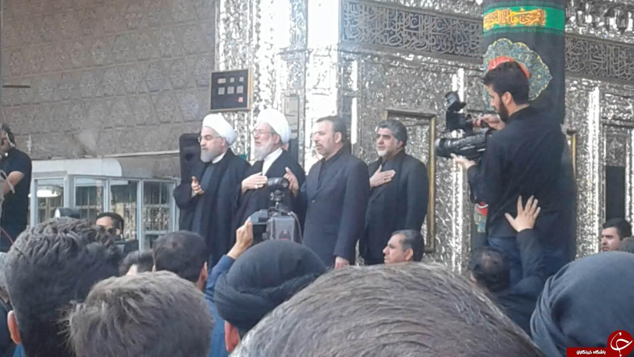 حضور رئیس جمهور در مراسم عزاداری حرم عبدالعظیم الحسنی + فیلم و تصاویر