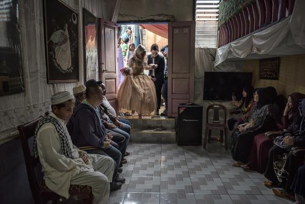 جشن ازدواج زوج فیلیپینی بعد از اخراج داعش+تصاویر