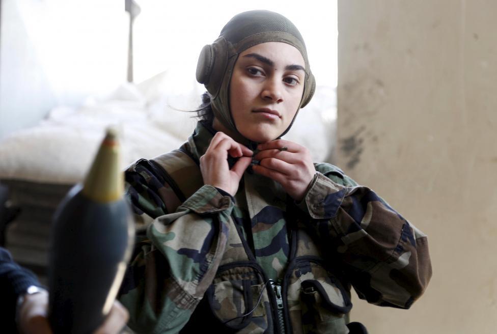 باشگاه خبرنگاران -زنان سوری همچنان در دفاع از کشورشان مشارکت دارند