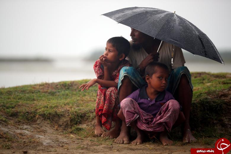 زندگی مصیبت بار آوارگان روهینگیایی در زیر باران! + تصاویر