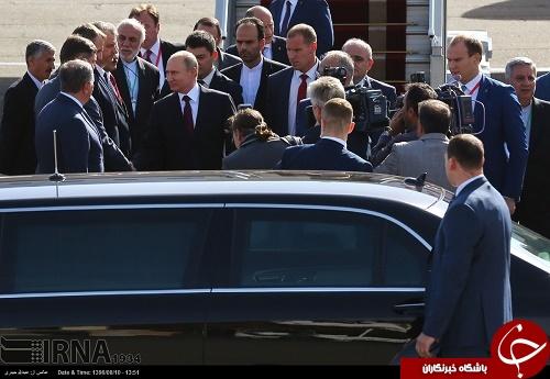 تصاویری از خودروی تشریفاتی و تیم اسکورت پوتین در تهران