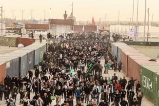 خروج زائرین اربعین از مرز مهران