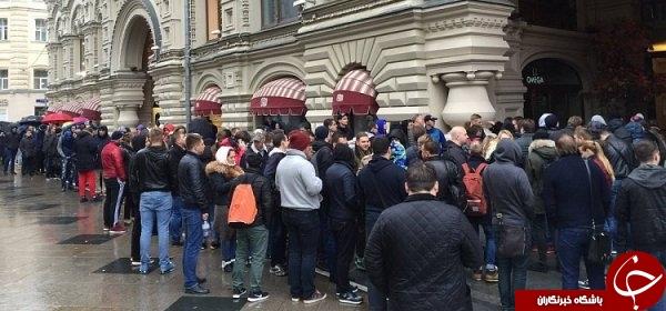 روسها در گرمای بازار آیفون X یخ زدند!+ تصاویر