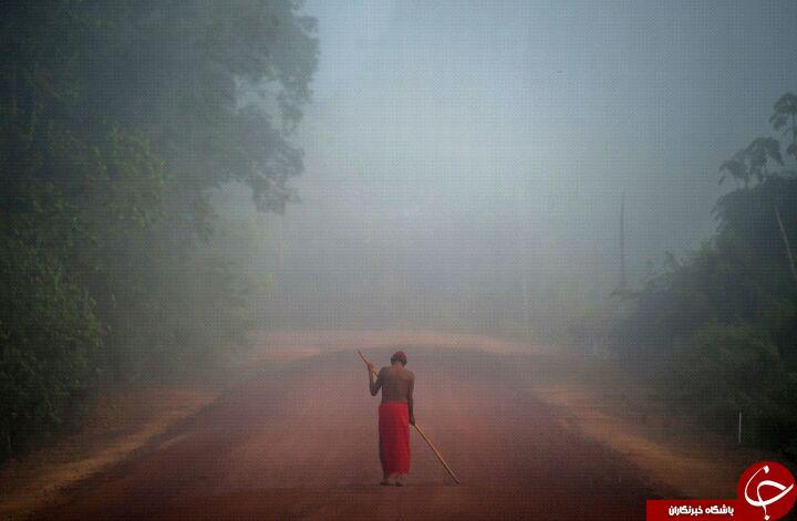 تصاویری جالب از قبیله ای ناشناخته در قلب جنگل آمازون
