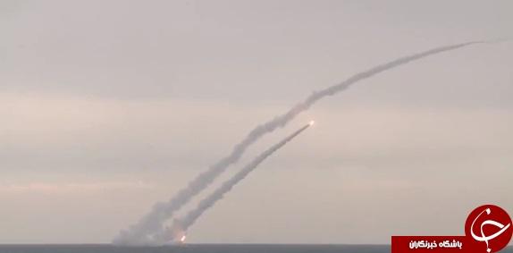 لحظه انهدام مواضع داعش بوسیله زیردریایی مخوف روسیه+ تصاویر