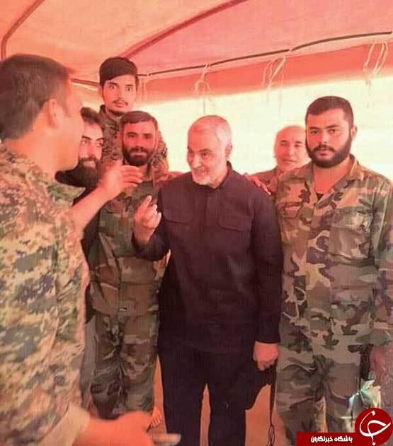 سردار سلیمانی در دیرالزور سوریه +تصاویر