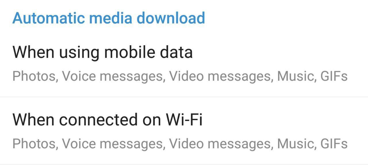چگونه مصرف اینترنت را در تلگرام کاهش دهیم؟