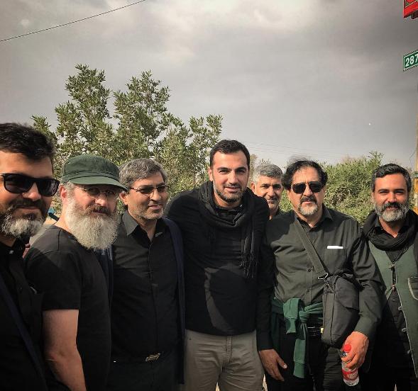 عکس بازیگران مشهور در پیاده روی اربعین حسینی 96