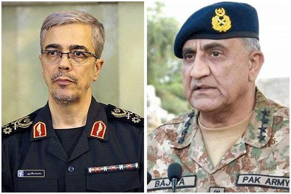 سرلشکر باقری از همتای پاکستانی خود بطور رسمی استقبال کرد