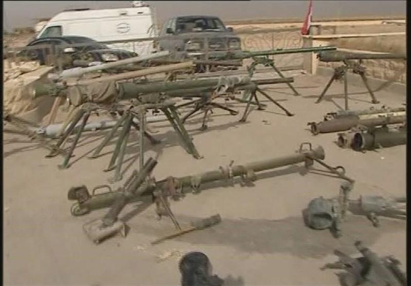 کشف انبارهای بزرگ تسلیحاتی داعش+تصاویر