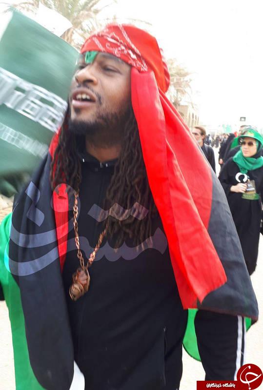 حضور سه خواننده رپ آمریکایی در پیادهروی اربعین +عکس