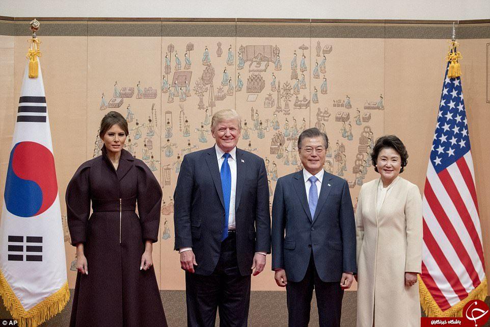 گردش ملانیا ترامپ در کاخ آبی کره جنوبی+ تصاویر