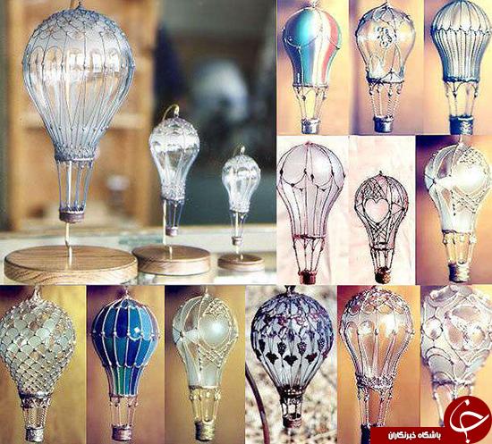 خلاقیت با استفاده از لامپ +تصاویر