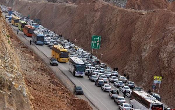 ترافیک در محور شلمچه- خرمشهر سنگین است/ بارش باران در استانهای شمالی و شمال غربی کشور