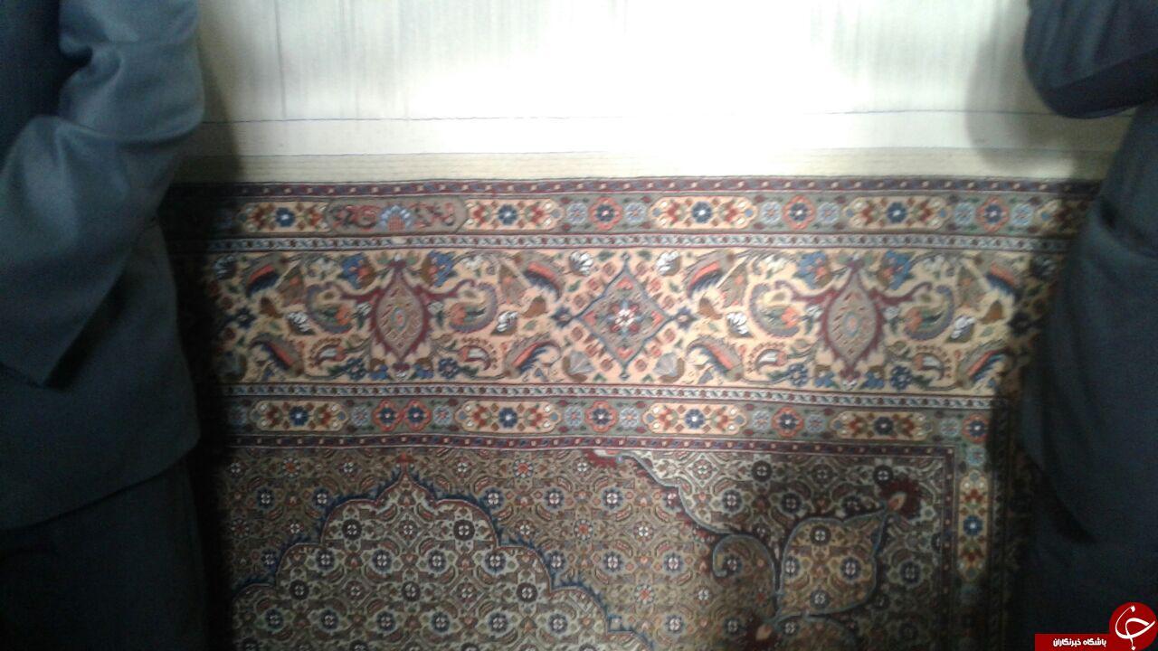 اهدای فرش به شبستان حضرت زهرا (س) در گوکچین + فیلم و تصاویر