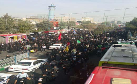 غافله جامانده اربعین حسینی در شهر ری + فیلم و تصاویر