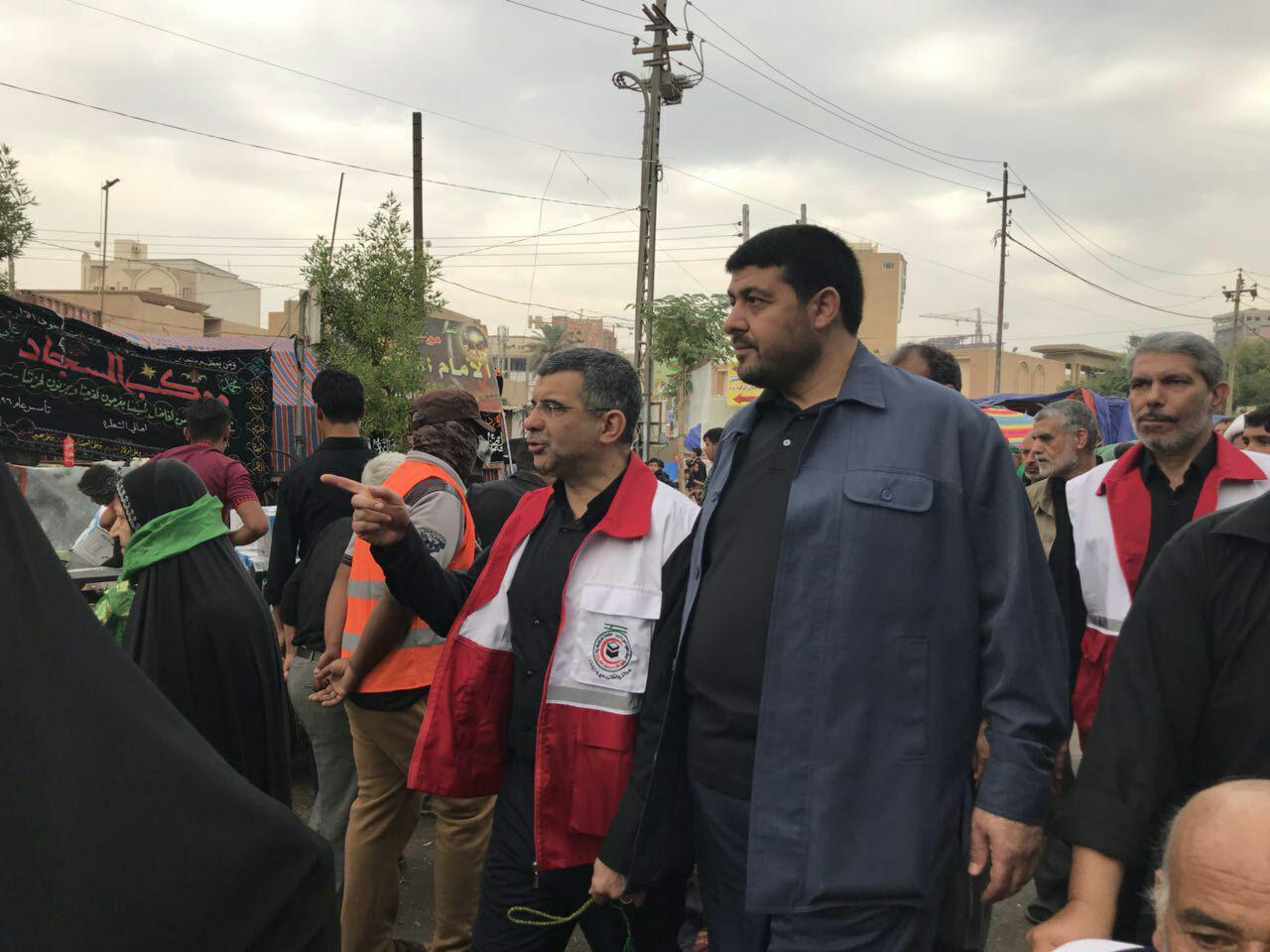 بازدید مقامات بهداشتی ستاد اربعین از مراکز درمانی عراق+ تصاویر