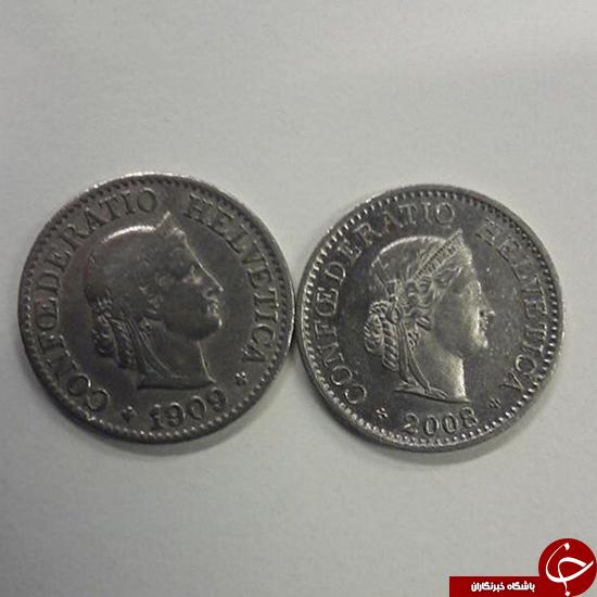 سکههای سوئیسی در گذر زمان +عکس