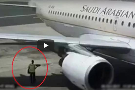 بلایی که سر کارگر دست و پا چلفتی سعودی در فرودگاه آمد+فیلم