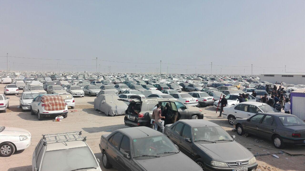 تردد۲۰۰ هزار خودرو در پارکینگ های مرز شلمچه
