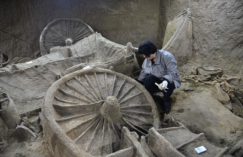 1-کشف مقبره ۲ هزارساله درچین به همراه اسکلت صدها اسب+ تصاویر2-کشف عجیبترین مقبره چینی با اسکلت هزاران حیوان+ تصاویر3- تصاویری باورنکردنی از عجیب ترین مقبره باستانی چنین با صدها اسکلت حیوان