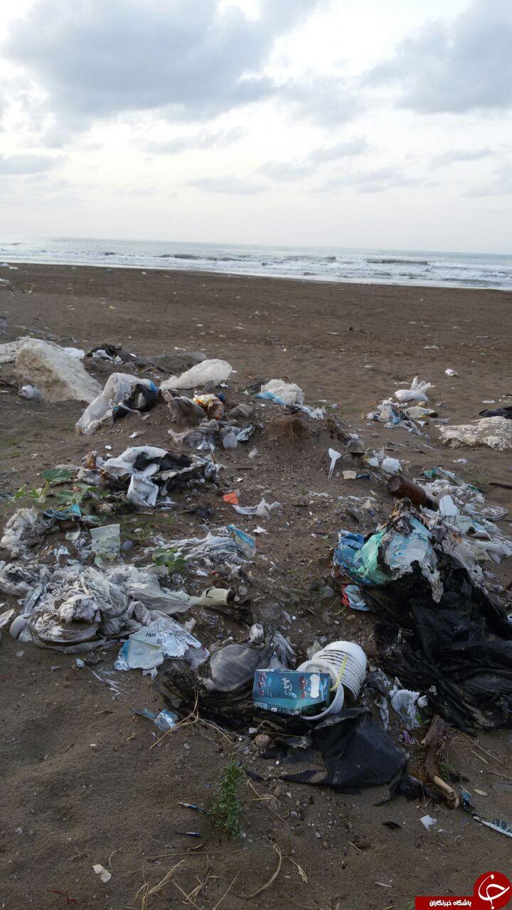 صحنه تأسفبار از ساحل دریای خزر + تصاویر