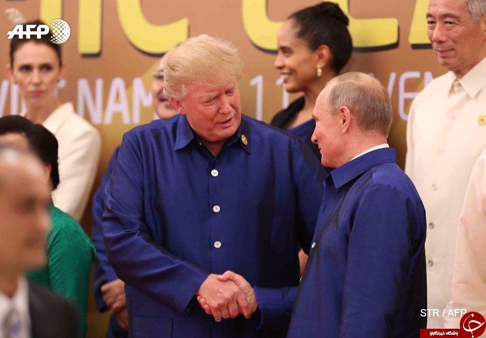 گفتگوی کوتاه پوتین و ترامپ در حاشیه نشست سران اپک