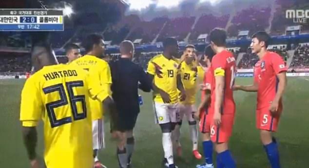 توهین نژادپرستانه بازیکن کلمبیا به چشم بادامی ها//