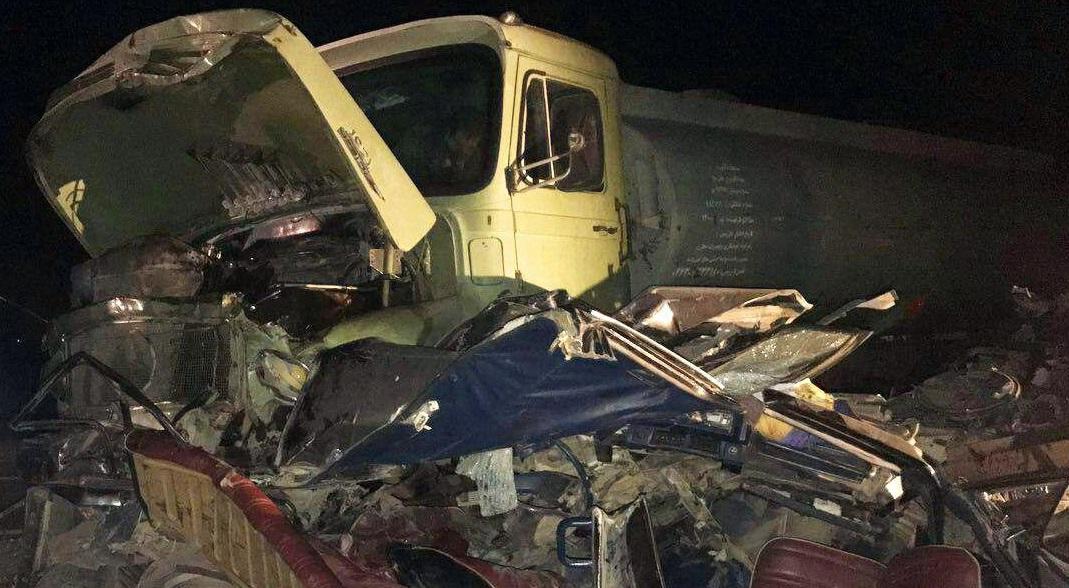 ۲ کشته در تصادف تانکر سوخت و خودروی سواری