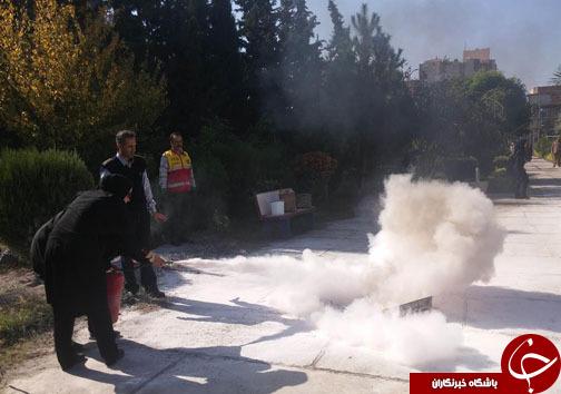 آمادگی دانش آموزان در در برابر حوادث آتش سوزی +تصاویر