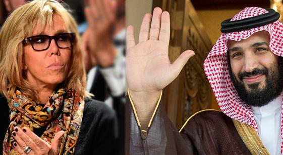 برخورد بن سلمان با همسر رئیس جمهور فرانسه چگونه بود+فیلم