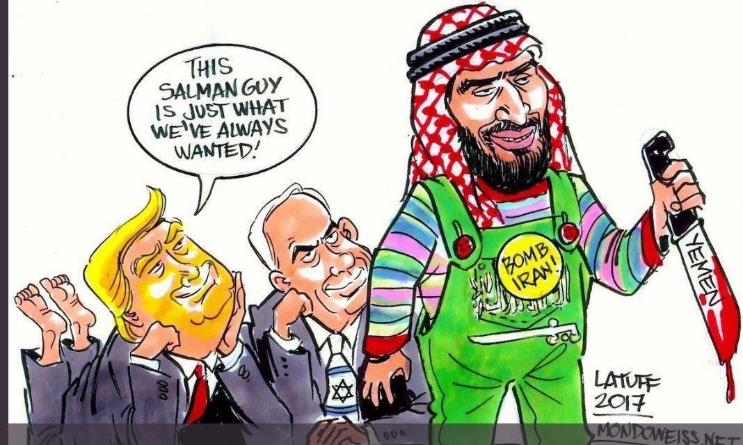 بن سلمان مترسک آمریکا و اسرائیل در منطقه + کاریکاتور