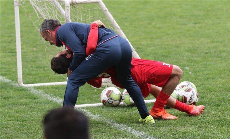 درگیری فیزیکی بازیکن پرسپولیس با مربی خارجی+عکس