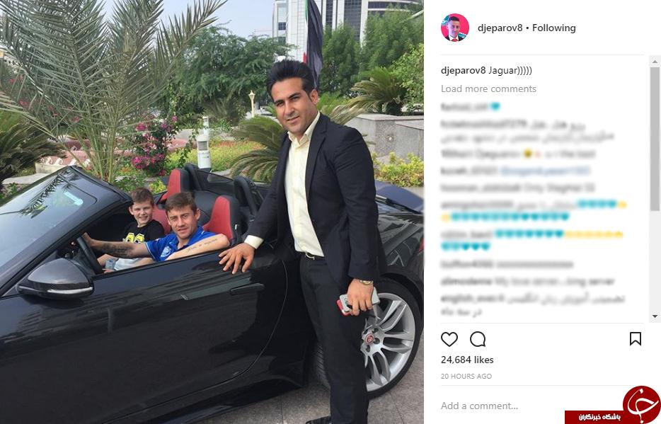 سرور جپارف تصاویری سوار بر خودروهای گرانقیمت را در اینستاگرام خود منتشر کرد.