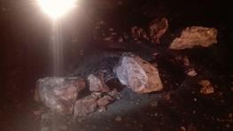 ریزش کوه در محور ایلام به سرابله بر اثر پس لرزه زلزله