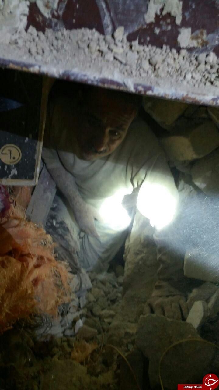 نجات مردم از زیر آوار توسط تکاوران ارتش + تصاویر