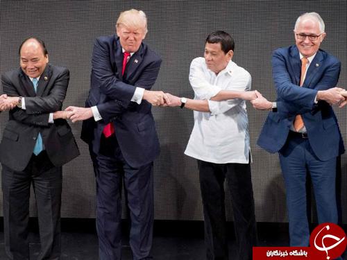 دست دادن ناشیانه ترامپ در اجلاس آسهآن سوژه رسانهها شد+ تصاویر