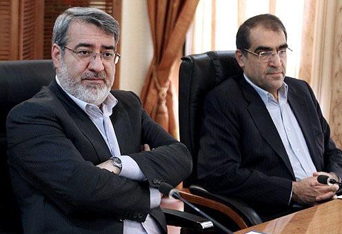 وزیران کشور و بهداشت به همراهی تیمی از ریاست جمهوری عازم استان کرمانشاه شدند