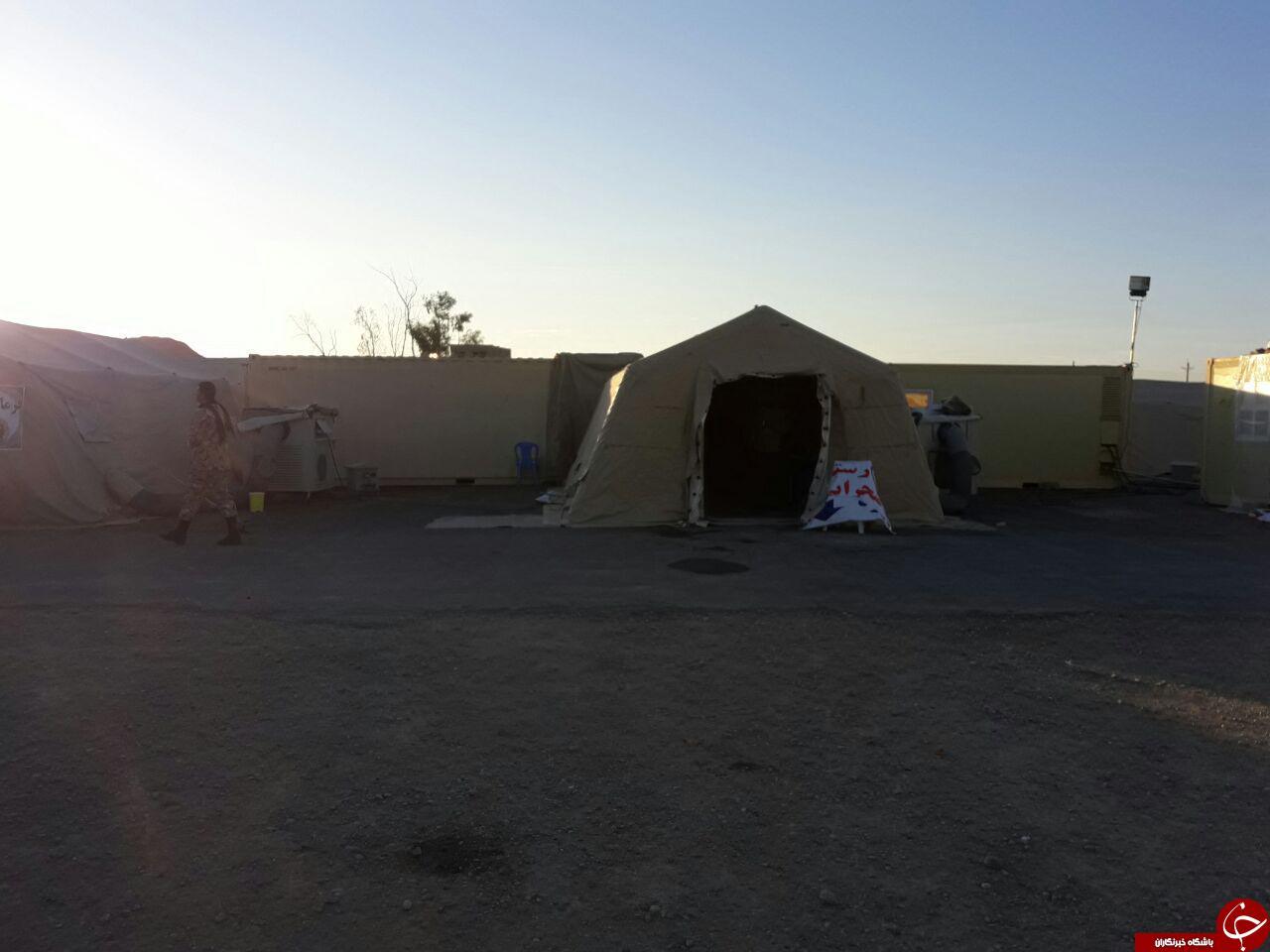 دایر شدن بیمارستان صحرایی توسط ارتش در قصرشیرین + فیلم