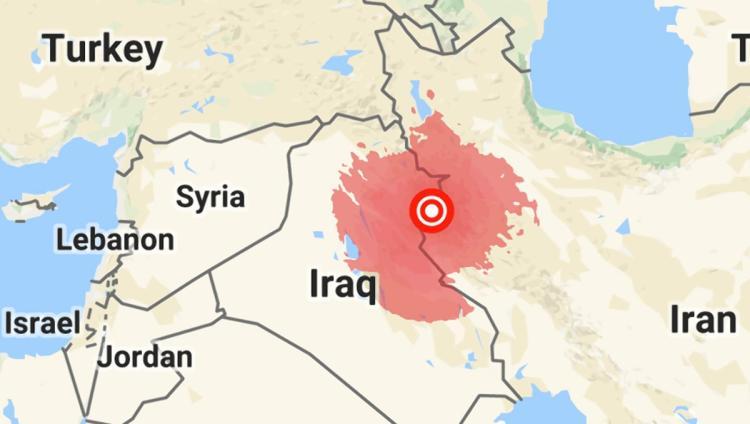 در زمینلرزه عراق، ۷ نفر کشته و ۳۲۱ نفر زخمی شدهاند
