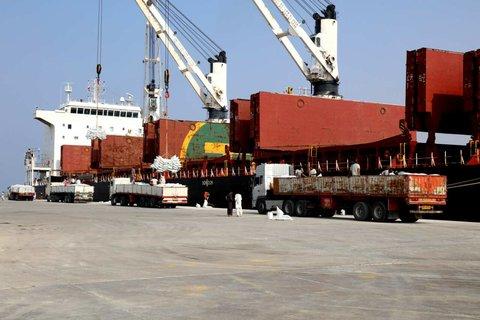 ورود کشتی حامل کود شیمیایی به بندر شهید بهشتی چابهار