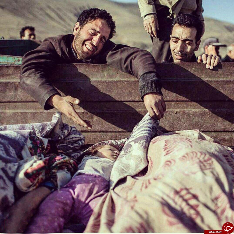 دردناکترین عکس از زلزله کرمانشاه