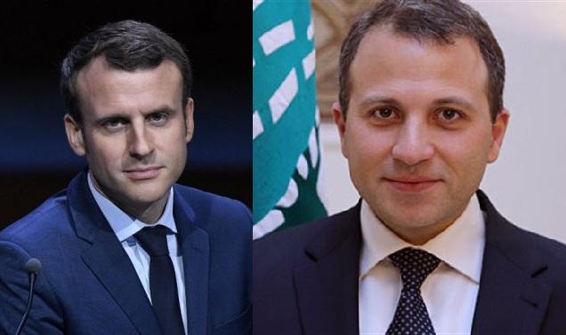 دیدار وزیر امور خارجه لبنان با امانوئل مکرون رییس جمهور فرانسه