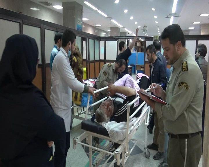 پذیرش سومین و چهارمین گروه از مصدومان زلزله کرمانشاه در همدان